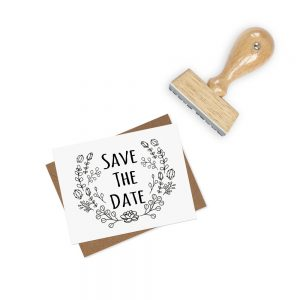 cactus save the date stamp
