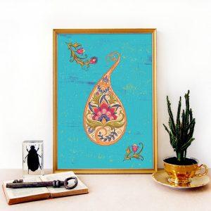 INDIAN ART PRINT paisley