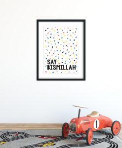 say bismillah art print