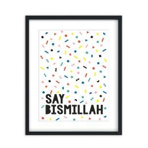 say bismillah art print 3