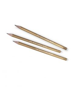 GOLD pencil with text