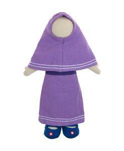muslim faceless prayer time doll, ethnic doll